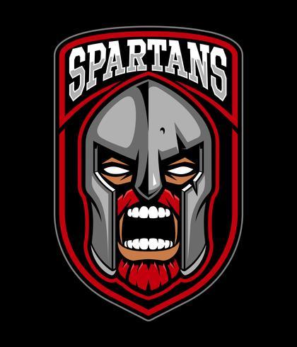 Logo design guerriero spartano. vettore