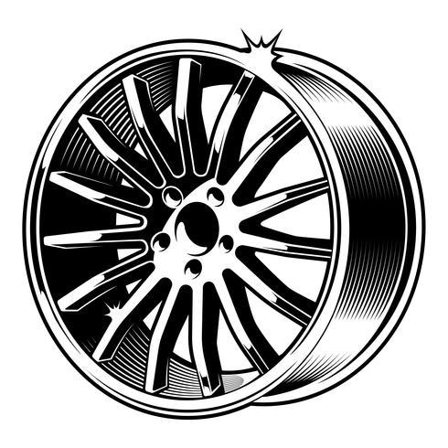 Disco per auto vettoriale. vettore