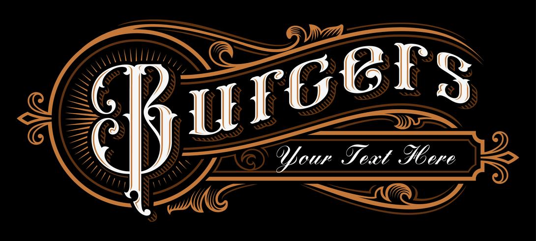 Progettazione di lettering di hamburger. vettore