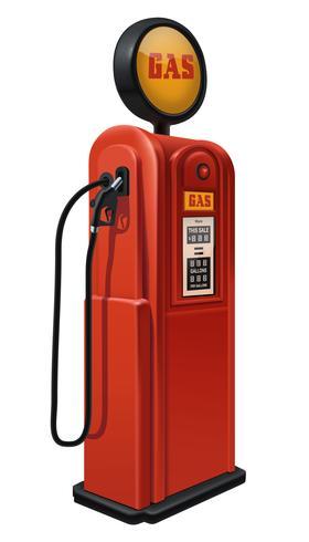 Pompa di benzina d'epoca. vettore