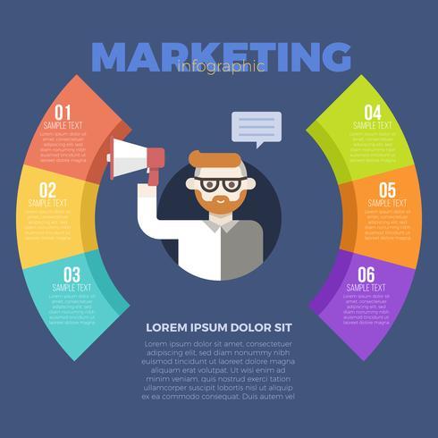 Modello di marketing infografica vettore