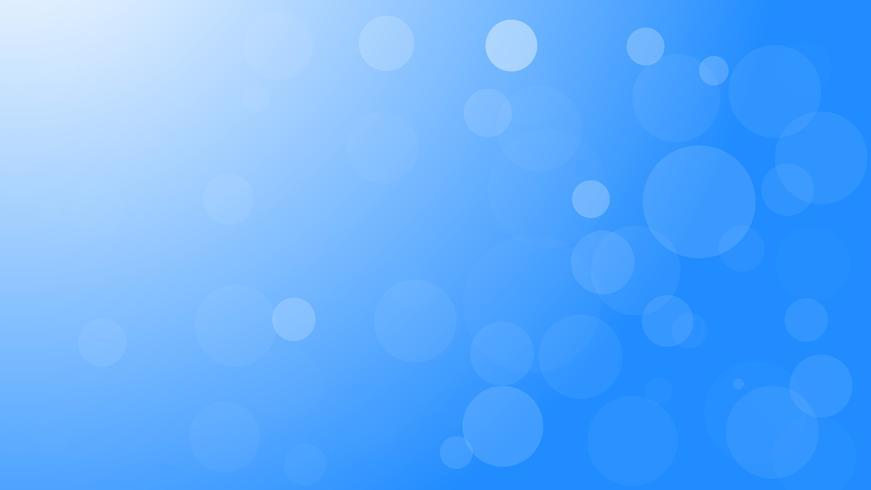Fondo blu astratto della luce del bokeh di vettore