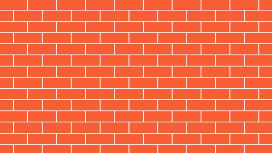 Backgroud rosso o arancio del muro di mattoni - illustrazione di vettore