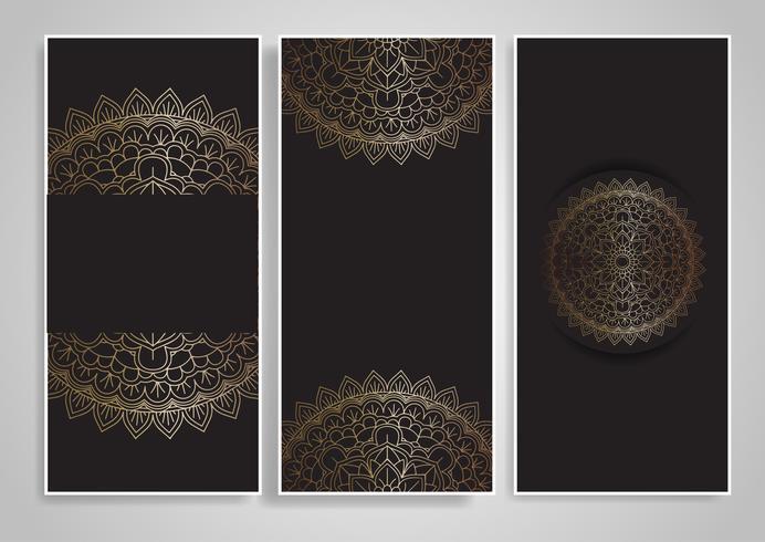 Disegni decorativi di mandala vettore