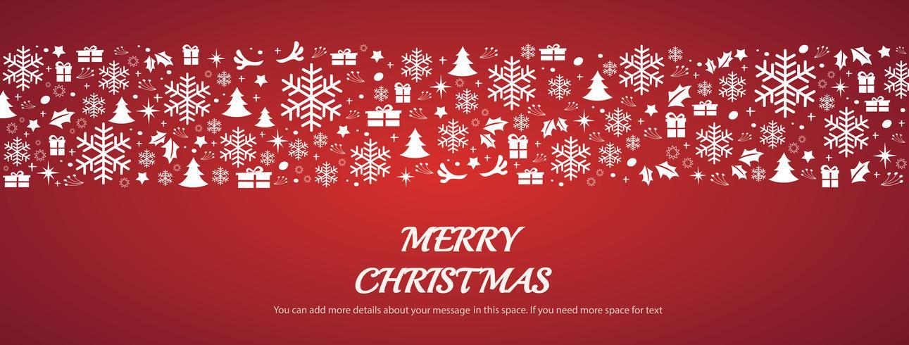 Biglietto di auguri di Natale con lo spazio di sfondo del modello vettore