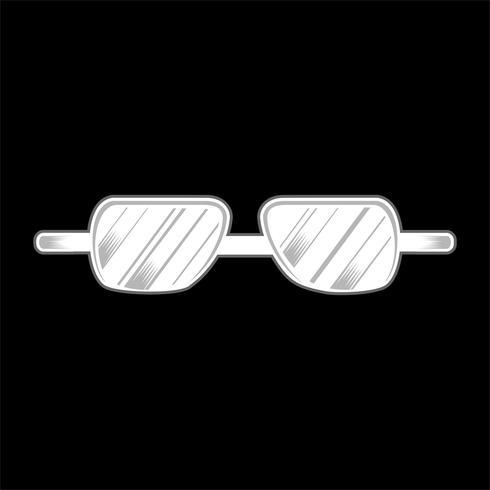 vettore di disegno della mano isolata occhiali