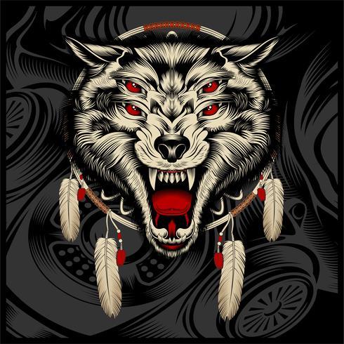 ruggito del lupo arrabbiato vettore