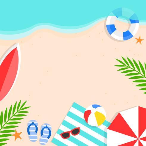 Ora legale, illustrazione di vettore del fondo della spiaggia di estate