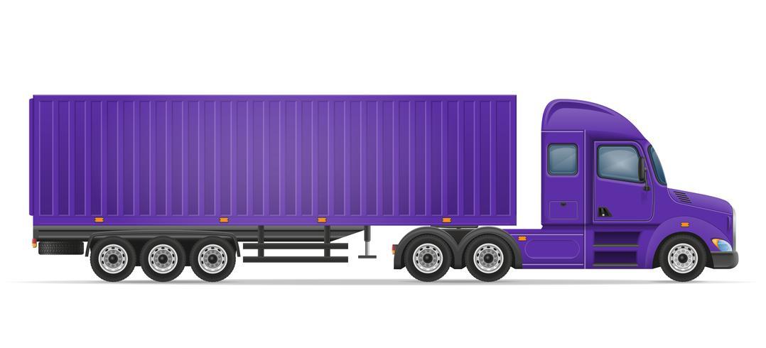 rimorchio dei semi del camion per il trasporto dell'illustrazione di vettore delle merci