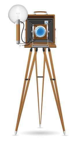vecchia macchina fotografica foto vettoriale illustrazione