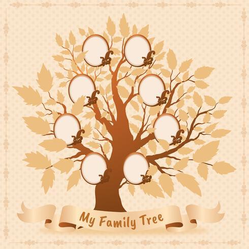 Disegno vettoriale di albero genealogico