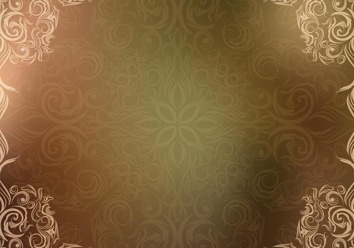 Wallpaper ornato vettoriale