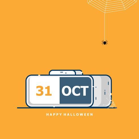 calendario per il 31 ottobre halloween felice vettore