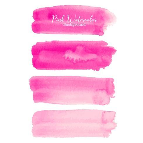 Acquerello rosa del colpo della spazzola su fondo bianco. Illustrazione vettoriale