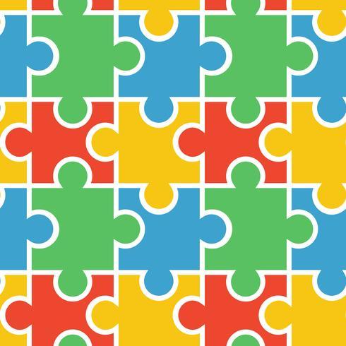 Puzzle di sfondo senza soluzione di continuità vettore