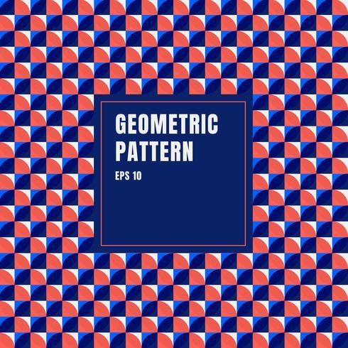 I cerchi geometrici blu, rossi, bianchi astratti modellano il fondo con lo spazio della copia. vettore