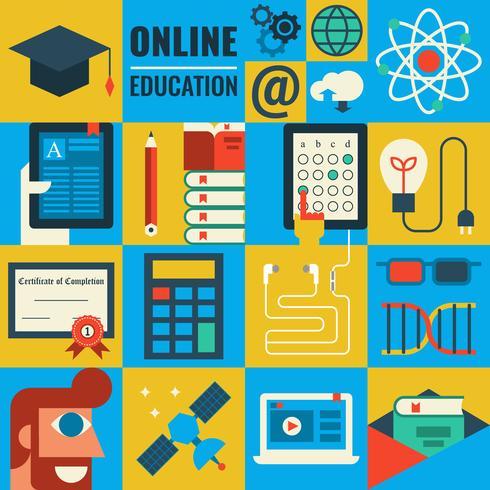 e-learning vettore