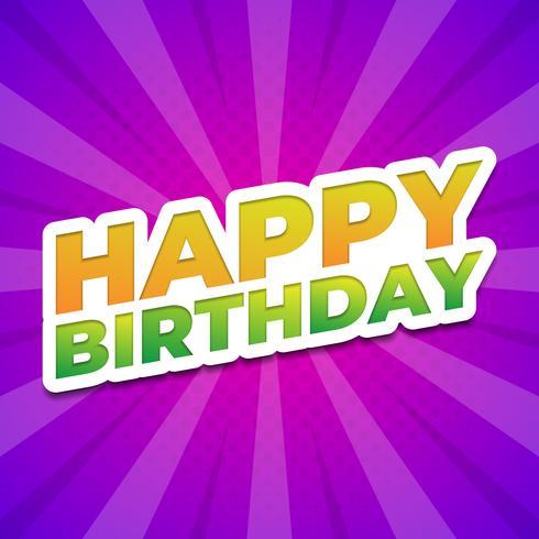 Design tipografico di buon compleanno adesivo vettore