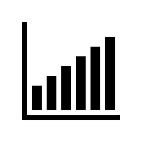 Icona di vettore del grafico a barre