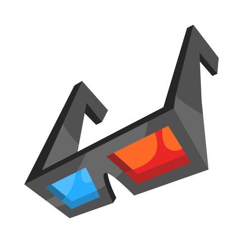 Occhiali 3D vettore