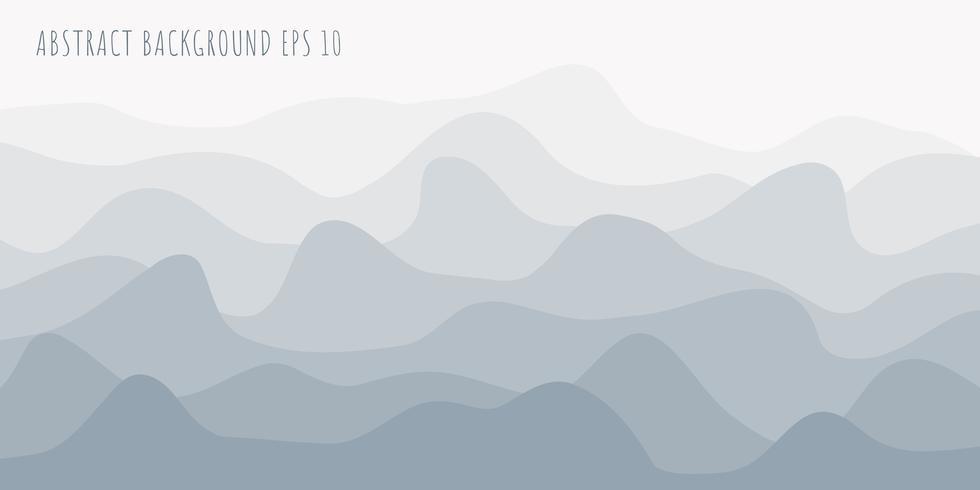 Linee astratte linee ondulate o sfondo bianco e grigio ondulato. vettore