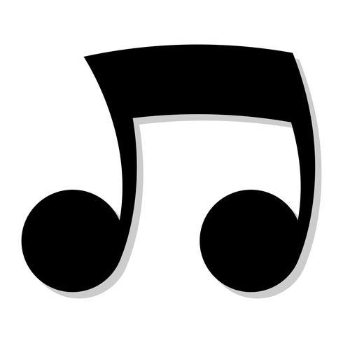 Icona di vettore di note musicali