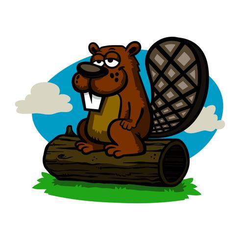 Illustrazione di castoro del fumetto vettore
