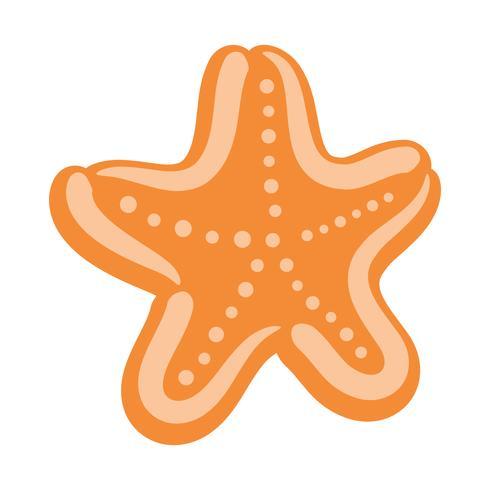 Icona di vettore di creatura del mare stella marina