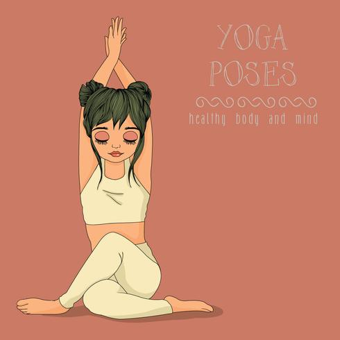 posa yoga vettore