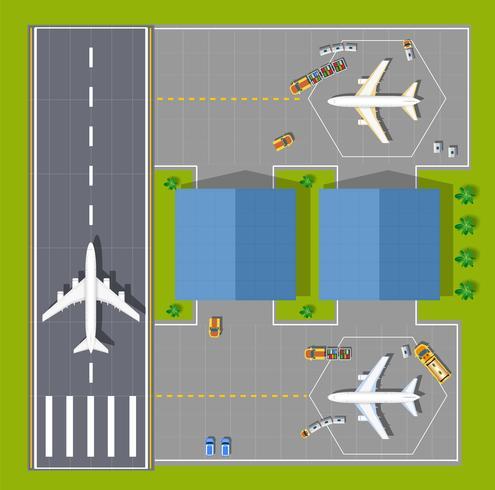 Punto di vista aereo vettore