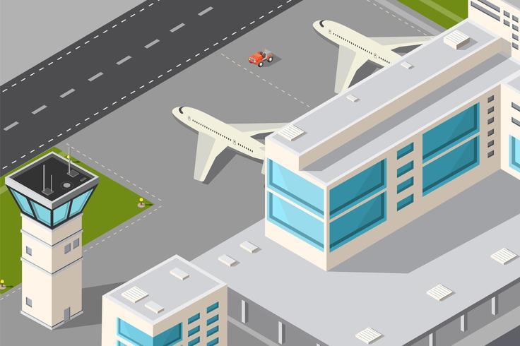 aeroporto della città vettore