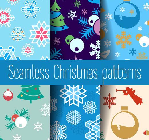 Capodanno Natale senza soluzione di continuità vettore
