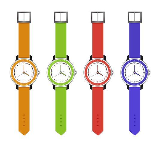 orologi sportivi e di moda vettore