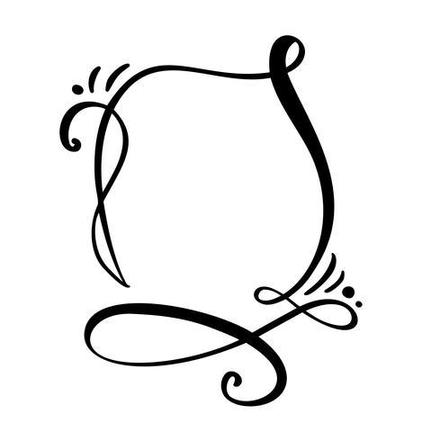 Fumetto di calligrafia Citare l'icona del fumetto. Modello di telaio o casella di testo disegnato a mano. Illustrazione vettoriale Bolla di pensiero Posto per citazione o citazione, Balloon for Idea, per Forum, Chat, Comment