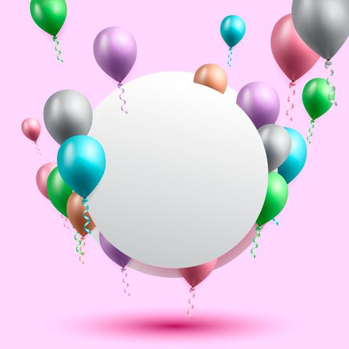 sfondo di celebrazione del compleanno, carta da parati palloncino di compleanno vettore