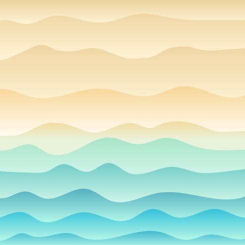 Spiaggia tropicale e priorità bassa del mare blu dell'onda. vettore