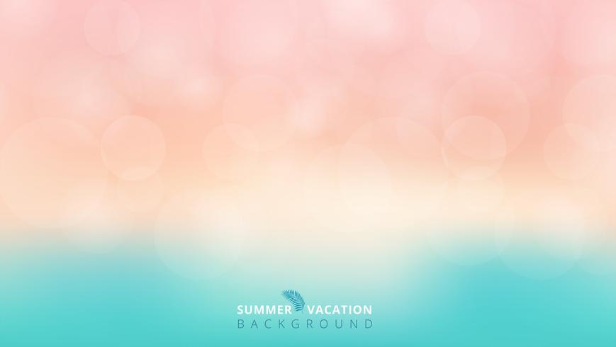 Fondo blu e rosa del bokeh vago tempo di stagione estiva. vettore