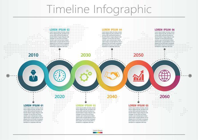 Modello di presentazione aziendale infografica vettore