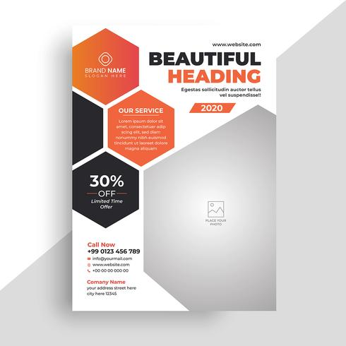 Modello flyer aziendale astratto business vettore