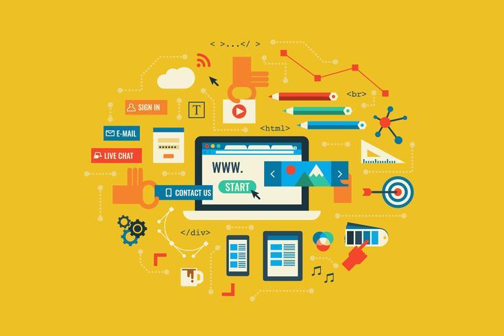 Progettazione di siti Web vettore