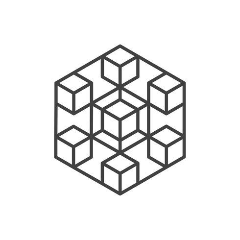 Icone di criptovaluta e blockchain o Logo. vettore