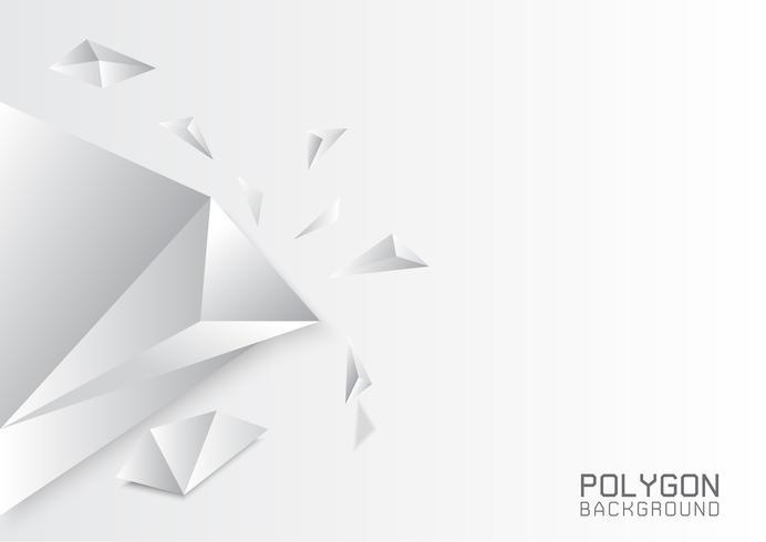 Sfondo bianco poligonale grigio, modelli di design creativo vettore