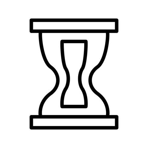Icona della clessidra nera vettore