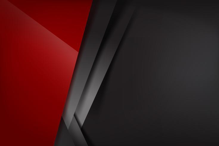 Sfondo astratto rosso scuro e nero si sovrappongono 008 vettore