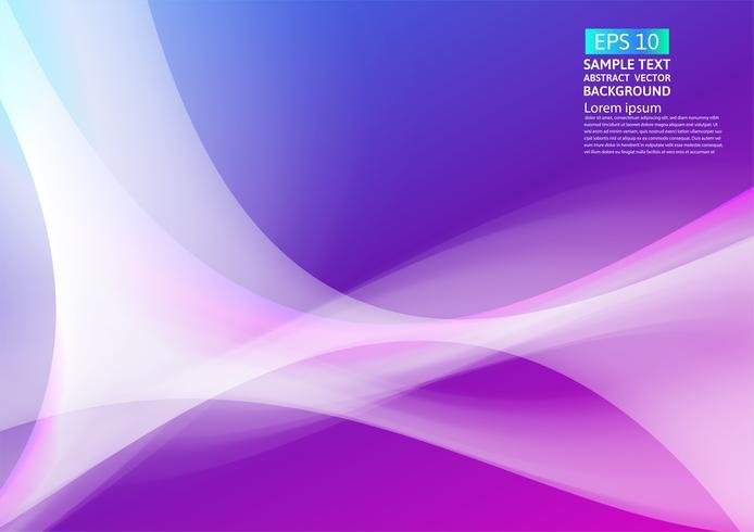 Progettazione astratta geometrica del fondo delle onde variopinte. Fluido gradiente forme composizione design futuristico. illustrazione vettoriale