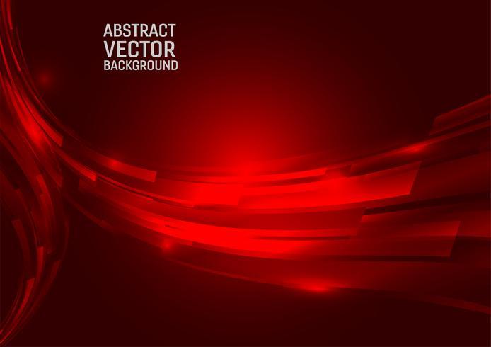 Fondo astratto geometrico di colore rosso. Disegna lo stile delle onde con lo spazio della copia vettore