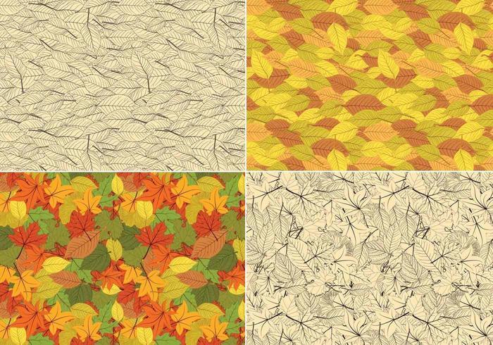 Modello senza cuciture di vettore delle foglie