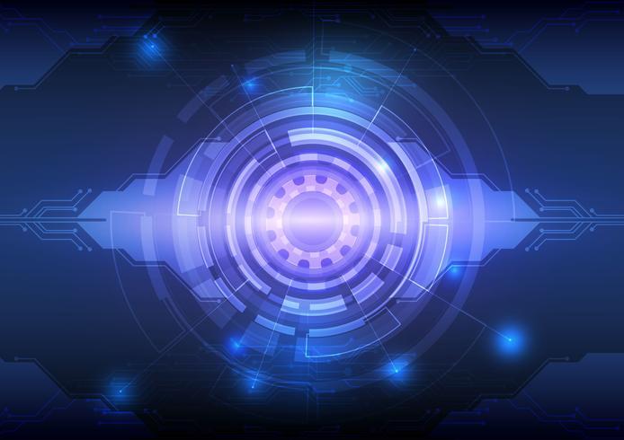 Illustrazione astratta di vettore di concetto di tecnologia digitale del fondo