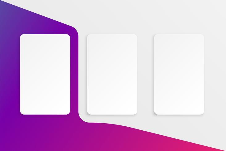 Modello di carta colorata per l'utilizzo web, illustrazione vettoriale