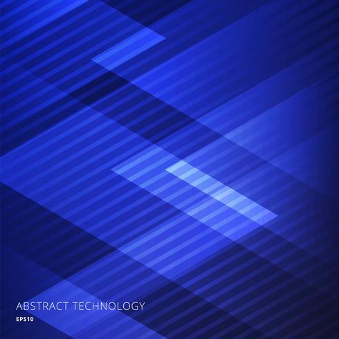 Fondo blu dei triangoli geometrici eleganti astratti con il modello di linee diagonali. vettore